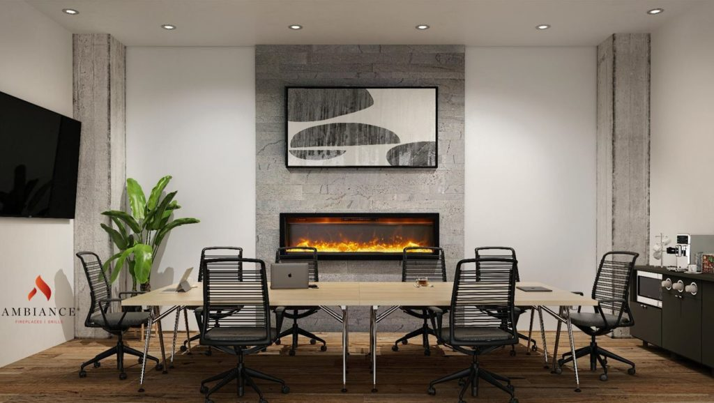 Linear In-Wall Electric Fireplace